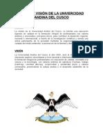 Misión y Visión de La Univercidad Andina Del Cusco