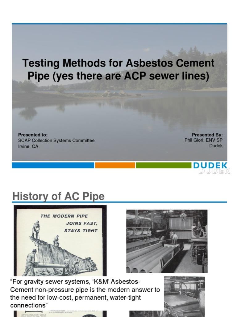 Dudek 2016-3-30 SCAP AC Pipe Testing