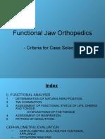 Functional Appliance Selection Criteria - Praveena