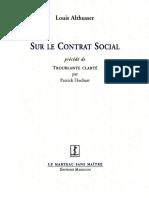 Sur Le Contrat Social
