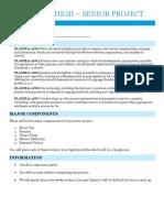 senior project task sheet