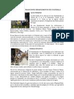 Costumbres y Tradiciones Departamentos de Guatemala