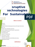 Disruptive Technologies for Sustainability