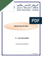 Cours Complet de Marketing de Base S3 Pr Hind Malainine