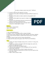 value 8th grade lesson plan