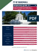 2017 City of Marshall scorecard