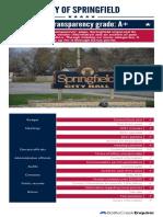 2017 City of Springfield scorecard