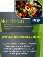 1a the Biblical and Spiritual Foundations of Nutrition