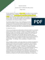 Resumen de Texto de Diego Gracia