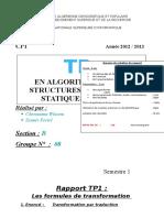 TP1 Rapport LesFormulesDeTransformation 2012-2013