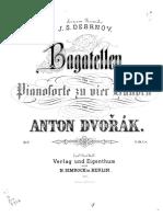 Bagatelles, pour 2 violons, violoncelle et harmonium (ou piano), B.79 (Op. 47) [arr. piano 4 mains]