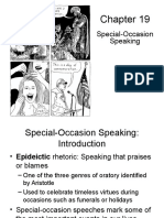 Chapter 19 Special-Occasion Speaking