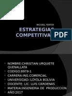 ESTRATEGIAS COMPETITIVAS DE MICHAEL PORTER
