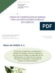 Codigo Conservacion Energia Edificaciones CDMX