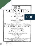 6 sonates pour Le Prince de Conty, pour violoncelle (ou violon) et bc (ou 2 vlc.)