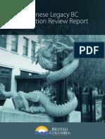 Chinese Legacy B.C. Legislation Review Report