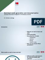 1.3 Municipal Waste Generation and Characterization SLIDES