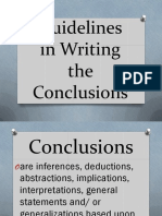 Guidelines in Writing the Conclusions - Copy
