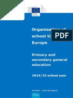 School Calendar Europe
