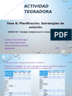 FASE 8 Planificación. Estrategias de solución