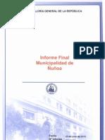 Informe final N° 231 - 09. Municipalidad de Ñuñoa, sobre control financiero Corporación de Desarrollo Social