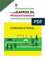 CONVOCATORIA - Hagamos el Parque Ciudadano