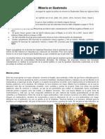 Minería en Guatemala