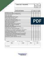 Check List Policorte
