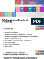 Lifelogging Aplicado al Coaching Portafolio de Trabajo