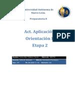 Actividad Aplicación Orientación II