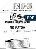 FM 17-25 Assault Gun Section and Platoon (World War II)