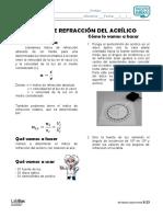 Índice de refracción del acrílico