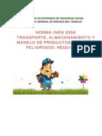 TRANSPORTE Y ALMACENAMIENTO DE PROD PELIGROSOS norma2266.pdf