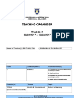 Tch Organiser -Week 8-10