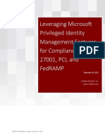 Privileged Identity Management Compliance White Paper