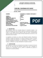 Carta Descriptiva - Desarrollo Humano Enfoques y Teorias