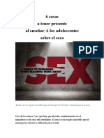 6 cosas a tener presente al enseñar los adolescentes sobre el sexo
