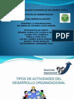 Actividades de Desarrollo Organizacional