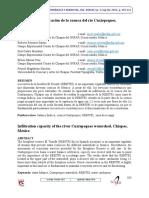 Capacidad de Infiltración de La Cuenca Del Río Cuxtepeques, Chiapas