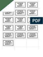 Etiquetas Identificación de Mando en Tableros