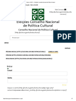 Sobre o CNPC — Eleições Conselho Nacional de Política Cultural