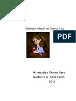 Maltrato Infantil en Puerto Rico