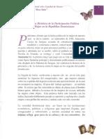 Perspectiva Histórica de la Participación Política de la Mujer en la República Dominicana
