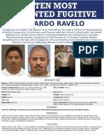 FBI lanza campaña para tratar de detener a fugitivo mexicano