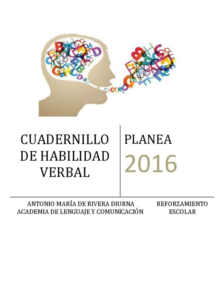 Habilidad Verbal Planea 2016