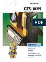 Jual Total Station TOPCON GTS-102N