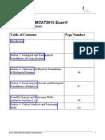 Mcat2015 Content