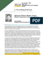 Bilingual Children's Mother Tongue