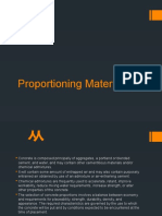 Proportioning Materials