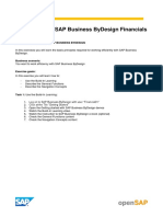 OpenSAP Byd3 Week 1 Additional Exercises